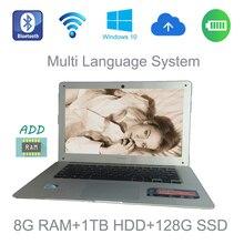 14 дюймов 8 грамм 1tbhdd и 128 г SSD 1366×768 P экран портал ноутбук Intel Celeron J1900 2.0 ГГц Windows 10 системы встроенная камера