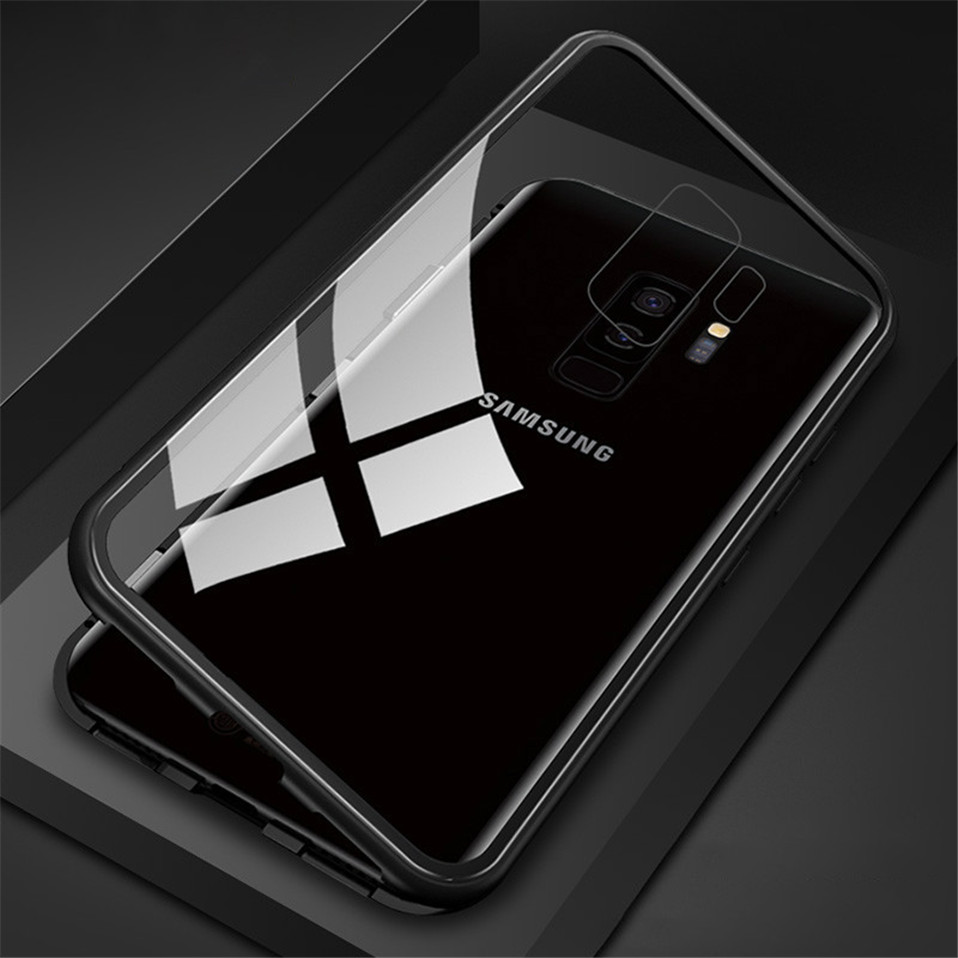 Magnetic Glass Case for Samsung Galaxy Note 8 9 S9 S8 Plus 09