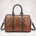 New Arrival Women Genuine Leather Embossed Tote Handbag Casual Travel Messenger Shoulder Bag Large Capacity Crossbody Bags