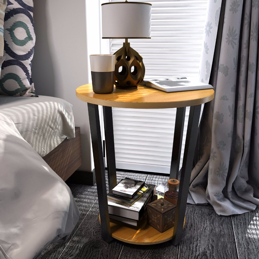 Lifewit Steel, Timber Corner Sofa Living Room Side Table Round Nightstand Couch End Table Snack Coffee Desk, odd ranks yield retro furniture living room coffee table corner a few color seattle bedroom nightstand h