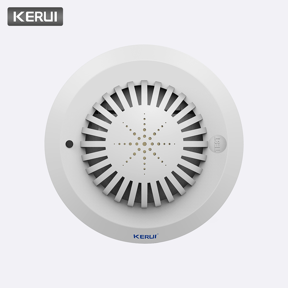 KERUI New High Sensitivity Smoke Fire Detector/Sensor For Home Alarm System Fire Alarm System Smoke Sensor High Quality