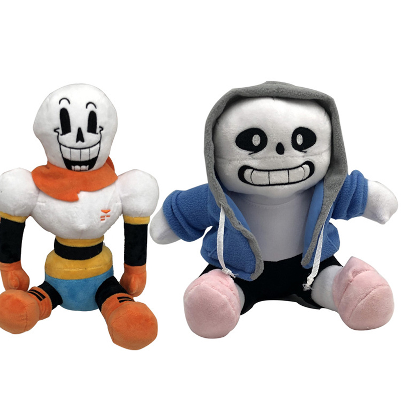 2pcs/lot Anime 22-25cm Undertale Plush Toys Undertale Sans Papyrus Asriel Toriel Stuffed Plush Toys Doll For Kids Childr