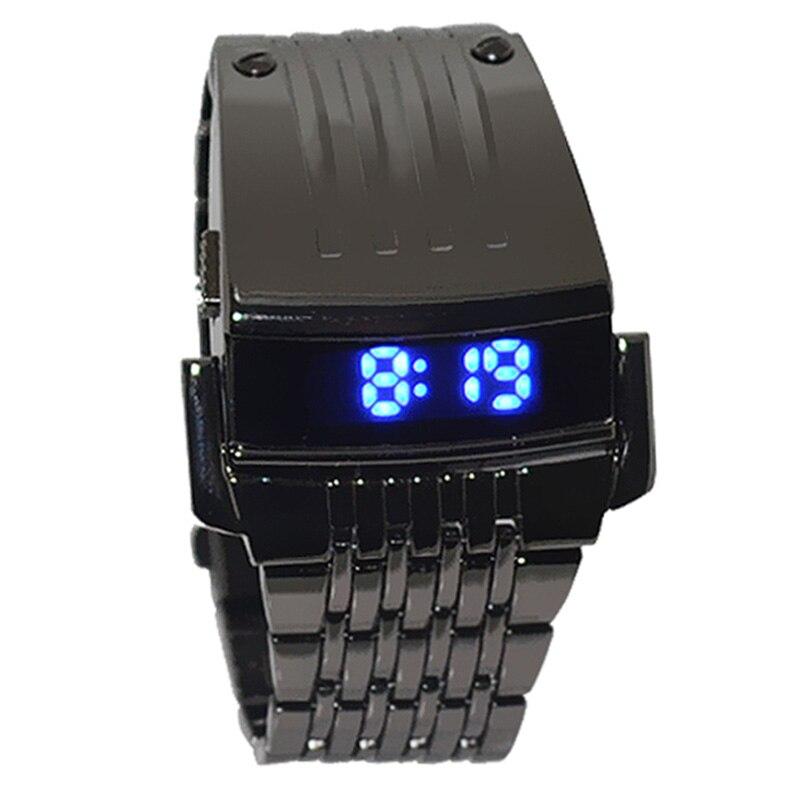 Irisshine Z720 men watches Clock brand luxury gift Men Stainless Steel Mens Blue LED Digital Sport Quartz Wrist Watch цена и фото