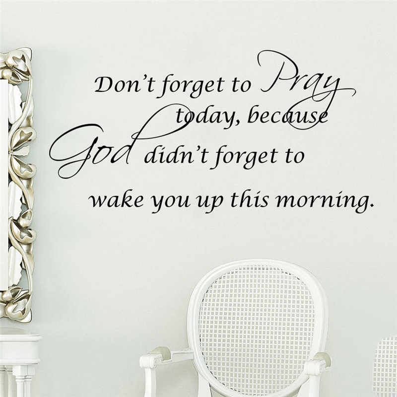 don t forget to pray today quotes christian god bless wall