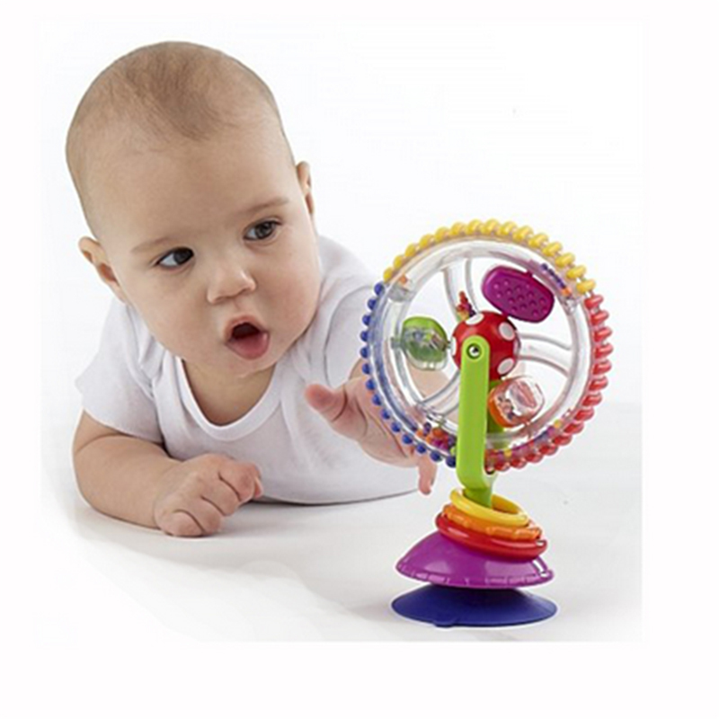 Детские игрушки три цвета модель вращающейся мельницы нории коляска обеденный стул с присосками educational toys for babies
