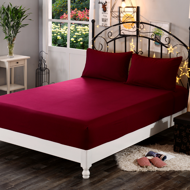 Percale Fitted Bed Sheets 25CM Box Cotton Rich 180TC Single Double King S//King