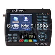 Via DHL & FedEx & EMS 2pcs/ Lot SATLINK WS-6950 3.5 Inch DVBS DVB-S Digital Satellite Finder Meter Satellite TV Receiver