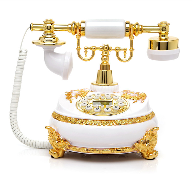 Ye are the top antique telephone European Garden Home Office landline phone phone Decoration home art rustic phone