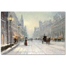 Профессиональный живописец, ручная роспись, высокое качество, абстрактная уличная живопись маслом на холсте, Зимний снег, картина маслом для гостиной