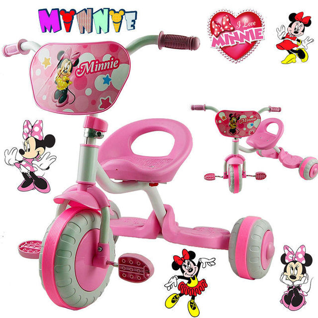 507eabf5d4a MINNIE MOUSE BIKE TRIKE TRICYCLE KID CHILD 3 WHEEL CAR RIDE ON TOY SCOOTER  BABY TOY GIFT
