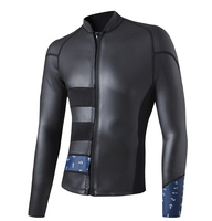Для мужчин's Best неопрена гидрокостюм куртка на молнии спереди одежда с длинным рукавом тренировки майка для одежда заплыва Подводное