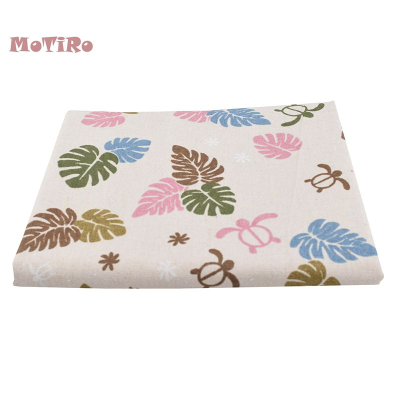 MoTiRo,Printed <font><b>Cotton</b></font> <font><b>Linen</b></font> Fabric,<font><b>100*150cm</b></font>,Floral Series Cloth For Sewing&Quilting of Curtain/Sofa/Table/Bag/Cushion Material image