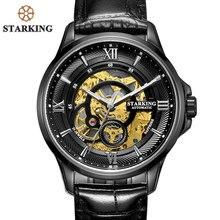 9a4871e5b09 STARKING Homens Relógios Em Aço Inoxidável Relógios 50 m À Prova D  Água  Skeleton Automatic