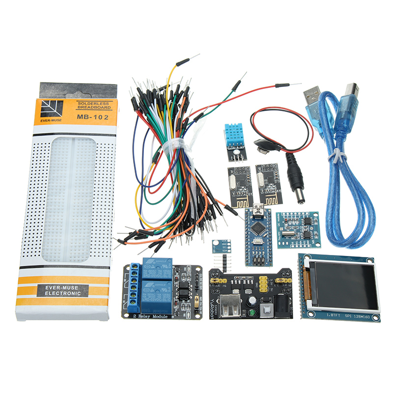Nano V3 Climate Monitor Kit With 1.8 Inch TFT GY-68 BMP180 DHT11 RTC Relay Module for ArduinoNano V3 Climate Monitor Kit With 1.8 Inch TFT GY-68 BMP180 DHT11 RTC Relay Module for Arduino