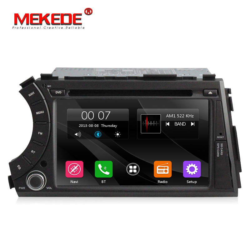 Free shipping 7inch 2din Car multimedia Player Navigation GPS DVD player for ssangyong Actyon Kyron with