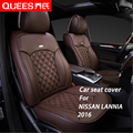 6 Colors Tailor-made Car Seat Cover for NISSAN LANNIA (2016) Composite pu Car Styling car accessories Protector