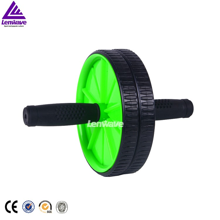 Lenwave Brand New Arrival Double-wheeled Abdominal exercise for ab Roller belly wheel power stretch rollers Fitness Equipment