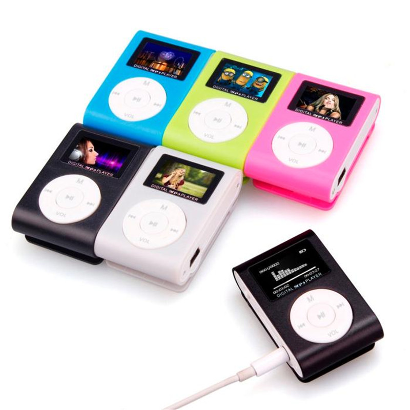 2017 Leader sales fashionable mini MP3 USB clip MP3 players LCD display Screen Support 3 ...