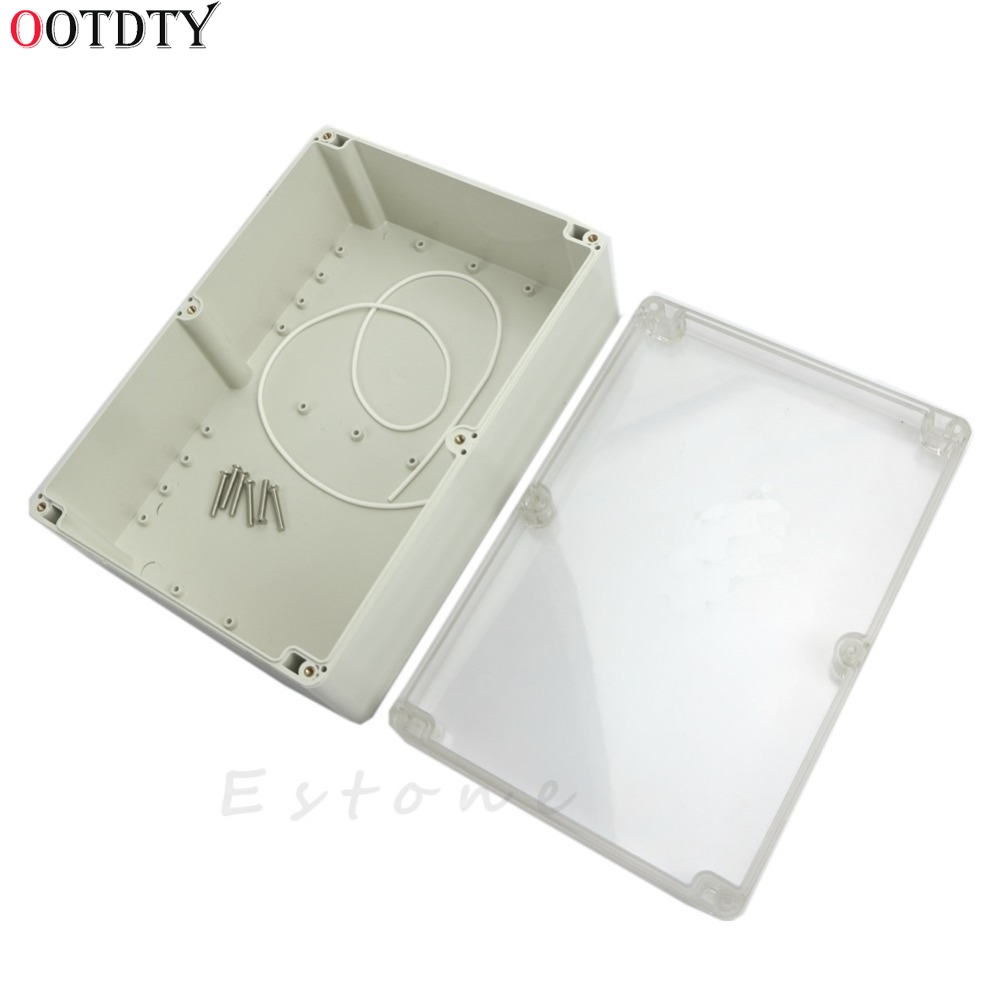 OOTDTY 2018 Fashion Waterproof Clear Electronic Project Box Enclosure Plastic Case 265x185x95mm upscale and fashion camera enclosure plastic injection mould