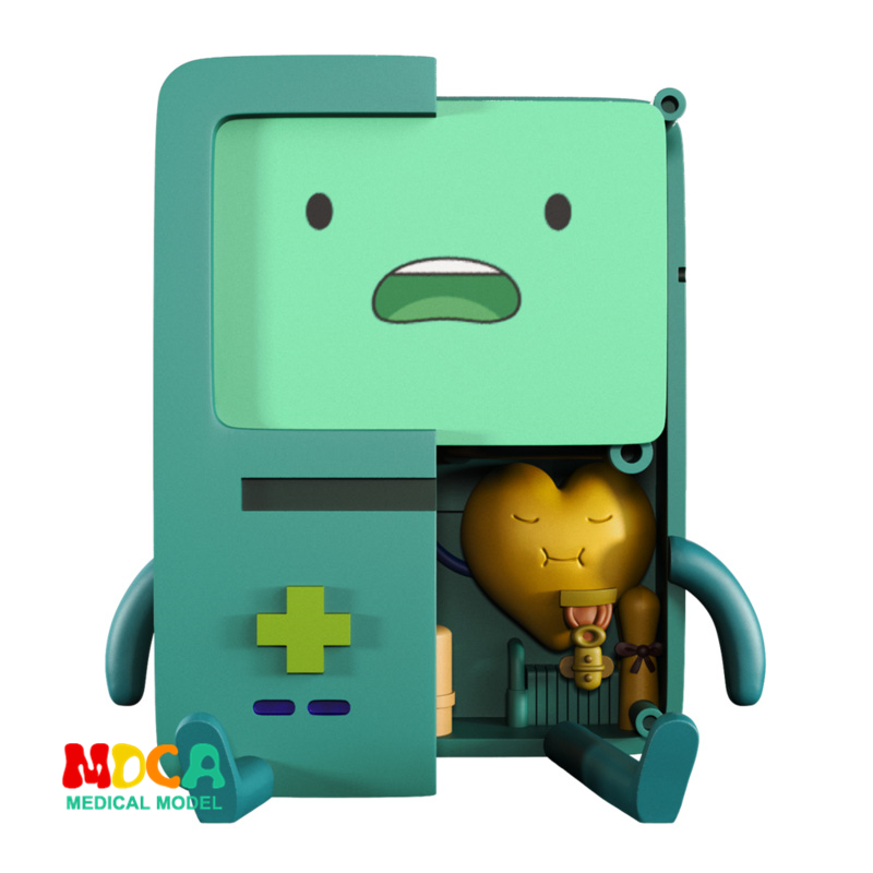 BMO 4D XXRAY Master Mighty Jaxx Jason Freeny Anatomy Cartoon Ornament