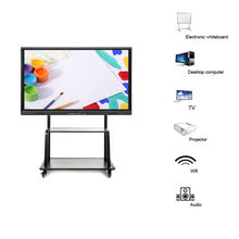 75 inch all in one interactive whiteboard built in pc I7 3540M monitor led interactive boad