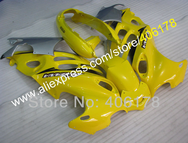 Hot Sales,98-07 GSXf750 600 moto Fairing For Suzuki Katana GSX750f GSX600f 1998-2007 Yellow Bodywork Fairing