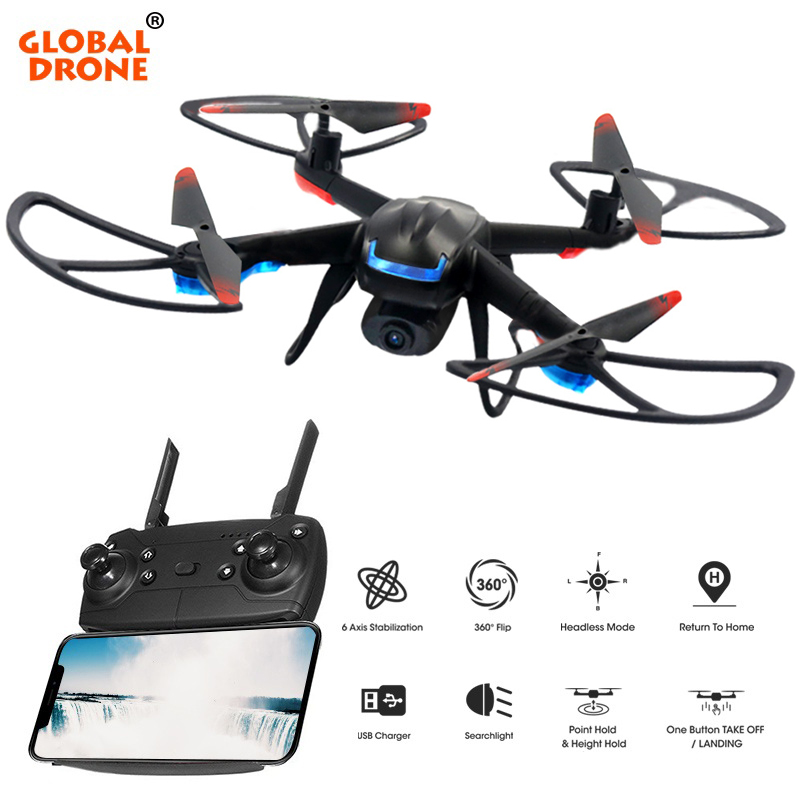 купить Global Drone GW007-3 Quadrocopter with Camera 2.4G 6 Axis Gyro Helicopter Altitude Hold FPV Mini Drones with Camera HD RC Dron онлайн