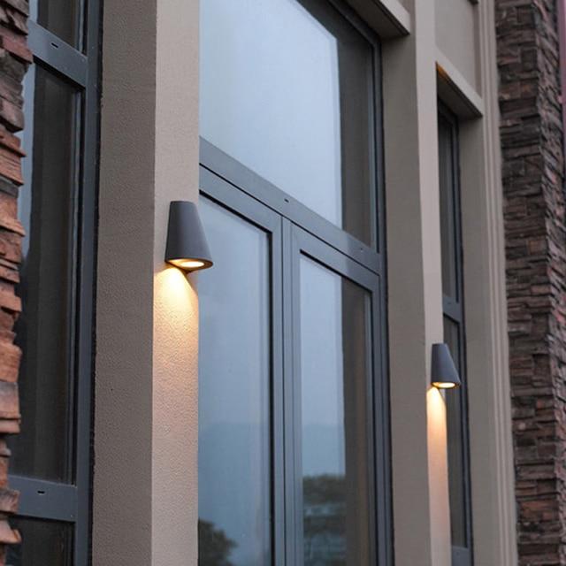 Lampu Jalan Taman Mode Cahaya Tahan Air Lampu Dinding Luar