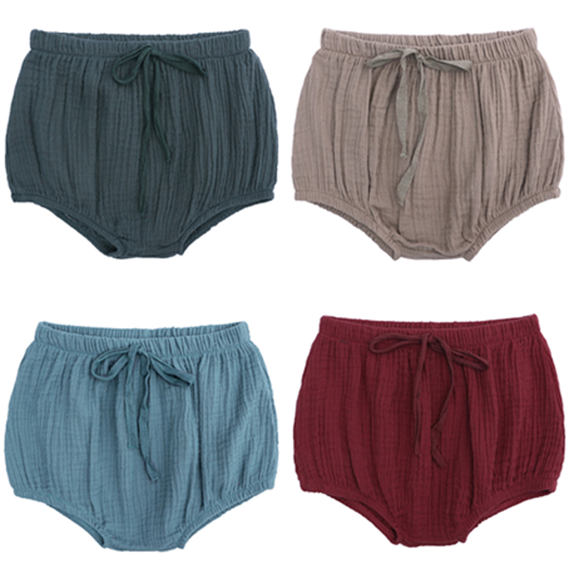 2019 Summer Soft Solid Girls Boys Short Pants Quality Toddler Baby Girls Shorts Elastic Bloomers Bread Pants Short PP Short 0-4Y