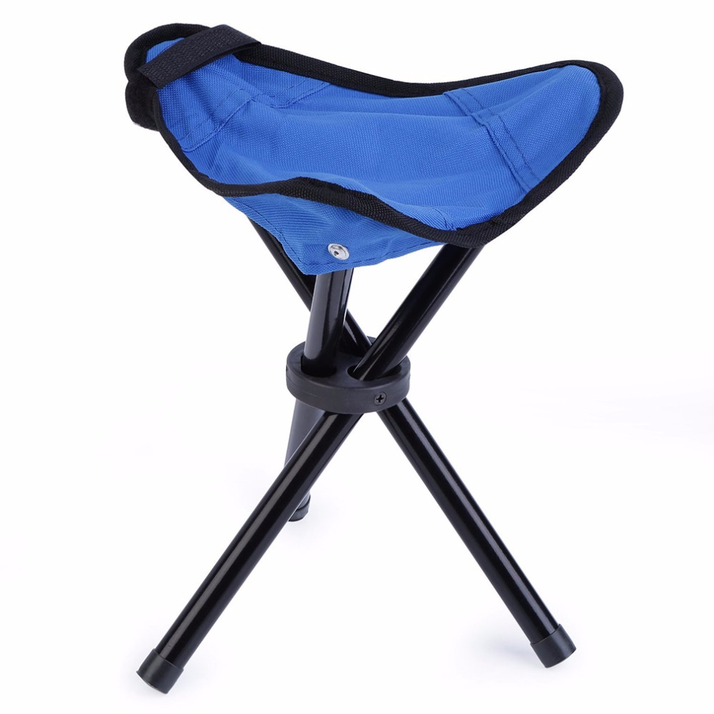 Made of Waterproof Nylon Fabric and Coated Steel Pipe OUTAD Folding Hiking <font><b>Backpacking</b></font> Tripod Stool For Outdoor Camping Fishing