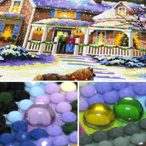 Image 2 - special shaped diamond painting 5d 3d diamond embroidery mosaic crystal stones beaded cross stitch kits scenery Christmas70*50cm