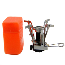 Portable Outdoor Survival Picnic Gas Burner Lighter Foldable Camping BBQ Cooking Tool Mini Stainless Steel Stove With Case