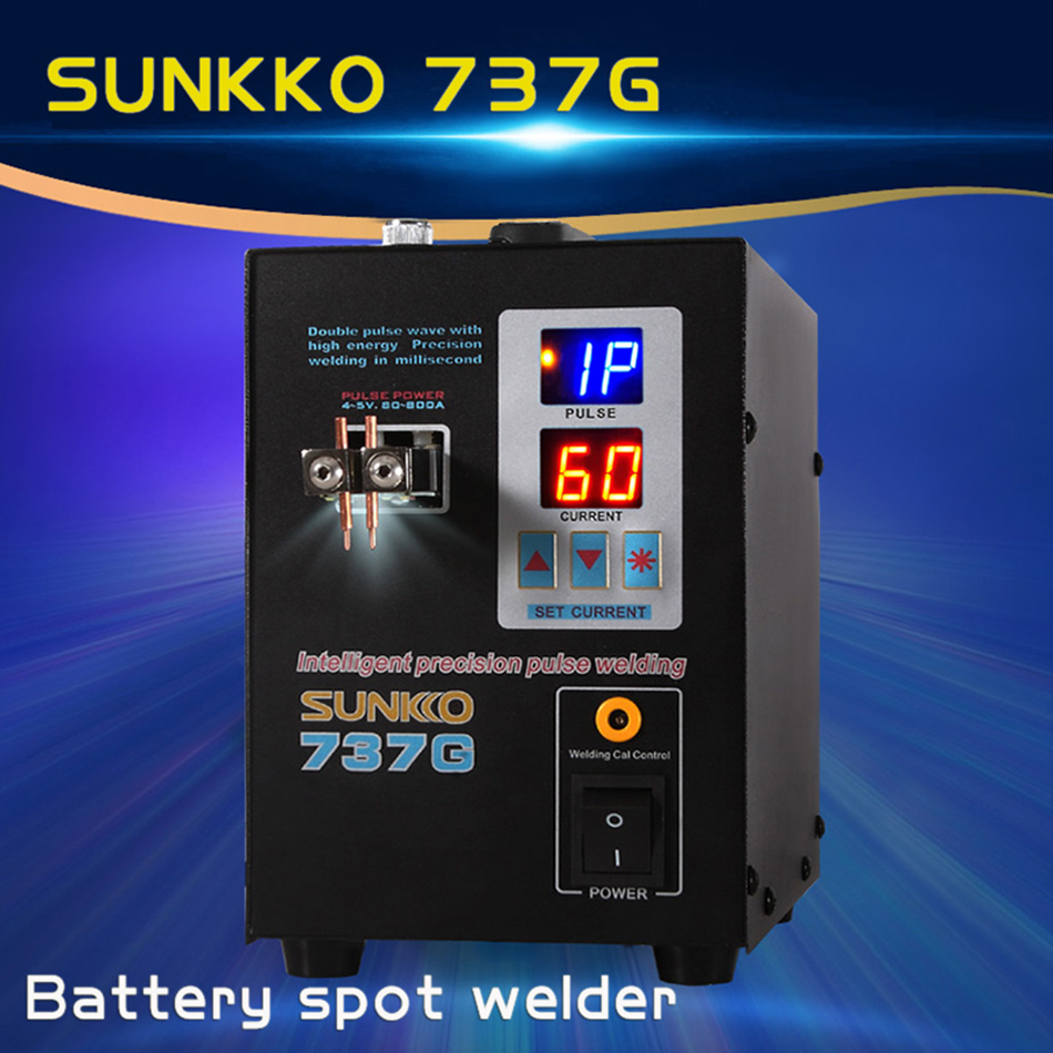 SUNKKO737G double-machine de soudage par points de batterie double impulsion double affichage machine de soudage au nickel