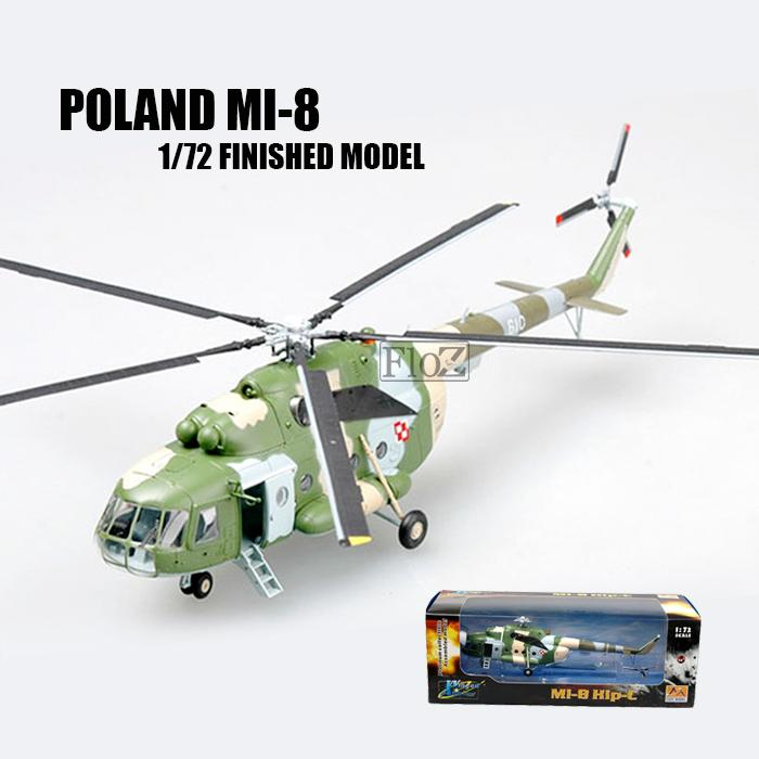 Poland Air Force Mi-8 N 610 1/72 Finished Helicopter Easy Model Twin-turbine