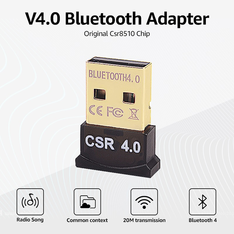 Image 2 - Bluetooth Adapter USB Dongle Bluetooth 4.0 Music Receiver For PC Computer Wireless Bluthooth Mini Bluetooth Transmitter Adapter-in USB Bluetooth Adapters/Dongles from Computer & Office