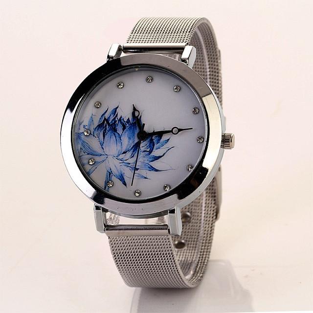 Duobla Fashion Classic Women Watch Quartz Stainless Steel Lotus pattern Bracelet Watches Business relogio feminino reloj 30Q