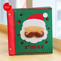 24*23cm DIY wool felt Christmas Style Sticky Type Photo Albums album de fotos new year gift Free shiping