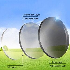 Image 4 - Işık duyarlı fotokromik tek vizyon optik reçete lensler hızlı ve derin kahverengi ve gri renk değiştirme etkisi