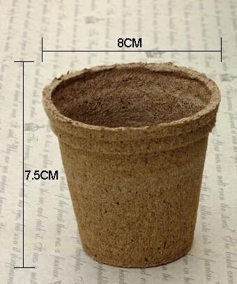 Gratis frakt, 25 stk, 8 * 7,5 cm Jiffy universell ernæring, frøplante jordblokk, mini blomsterkrukke, Nursery pot, torv ernæring blokk turfy