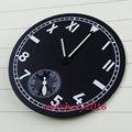 Новинка 38 9 мм  черный комплект с циферблатом  подходит для мужчин 6498  мужские часы с циферблатом и стрелками