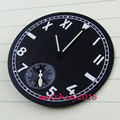 New 38.9mm Parnis black dial kit fit 6498 movement Men's Watch dial + hands