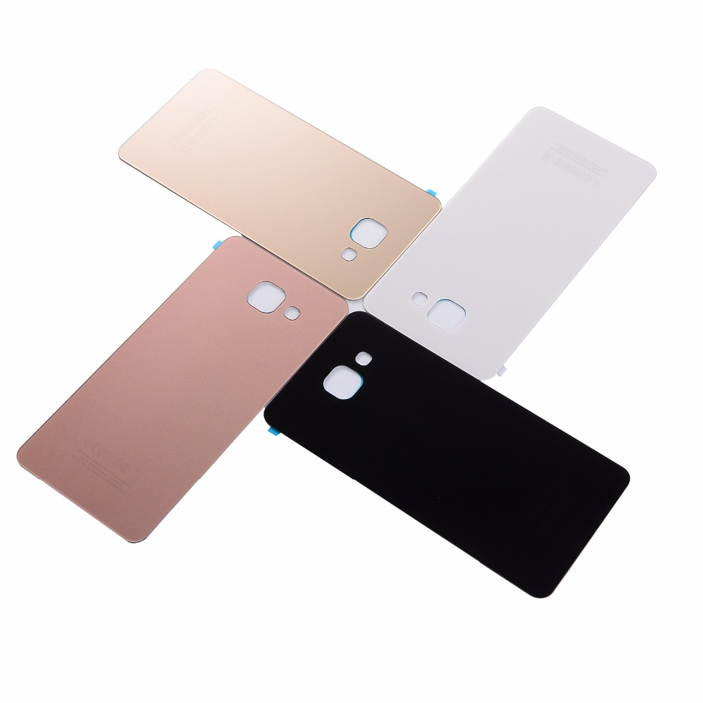 Original Battery Door Cover For Samsung A5 A510 A510F 2016 Housing Back Glass Cover With Adhesive(A510 All Versions)