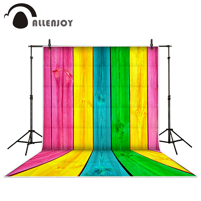 Allenjoy photography backdrops Rainbow painted walls wood brick wall backgrounds for photo studio