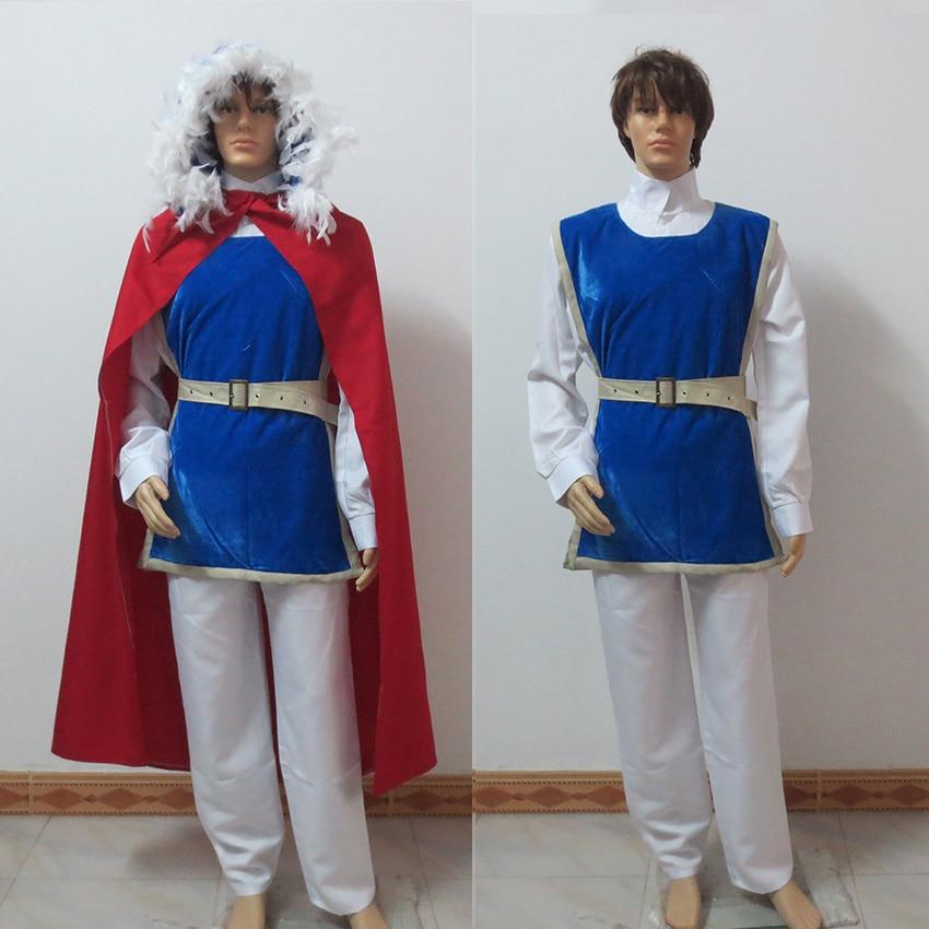 Cartoon Movie Snow White Prince Charming Cosplay Costume