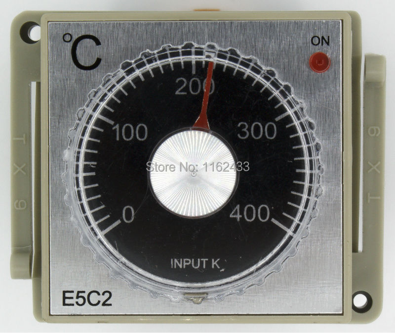 US $6 33 |E5C2 R AC 220V relay output K input pointer temperature  controller with socket E5C2 220VAC series-in Temperature Instruments from  Tools on