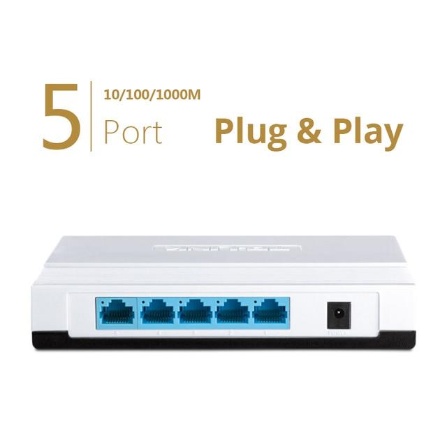 TP-LINK 5-Port Gigabit Easy Smart Switch network 5-Port RJ45 10/100/1000 Mbps Desktop Switch Ethernet switch TL-SG1005+