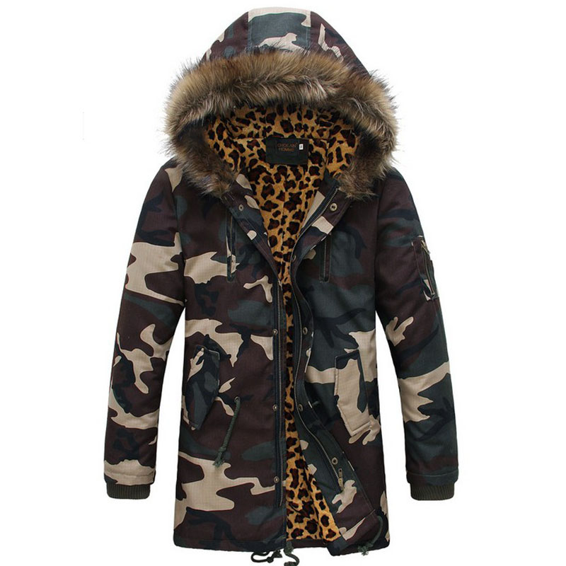 Aliexpress.com : Buy Leopard Camouflage Down Jackets 2016 military