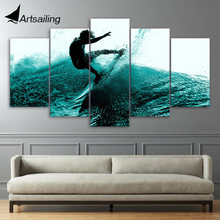 Framed Printed summer fun Surf Group picture Painting wall art room decor print poster picture canvas Free shipping/ny-840 printed abstract graphics psychedelic nebula space painting canvas print decor print poster picture canvas free shipping ny 5746