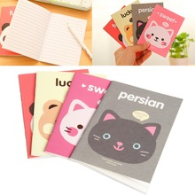1Pc Portable Cute Cartoon Paper Notepad Memo Diary Notebook Exercise Book