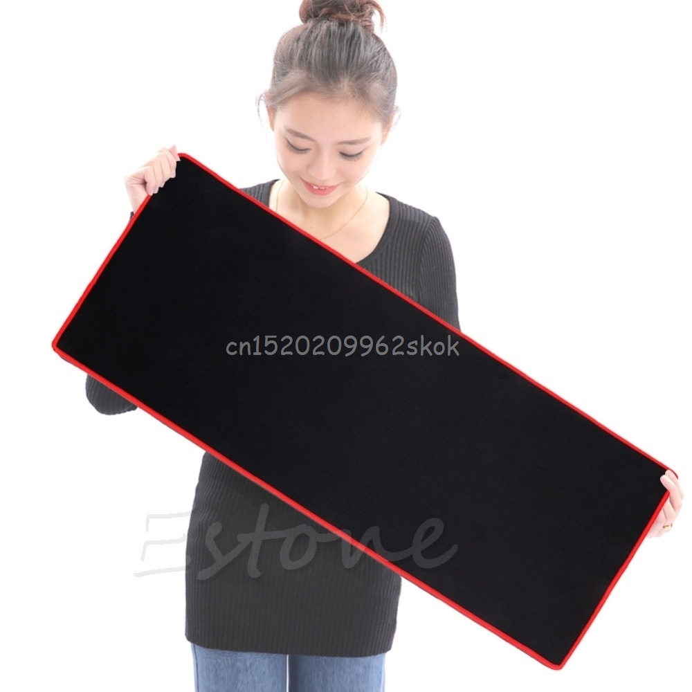 700*300*2MM Large size Speed Mouse Pad Gaming Computer Rubber Sift Simple Surface Pro Mat Keyboard Blue for PC Laptop #H029#